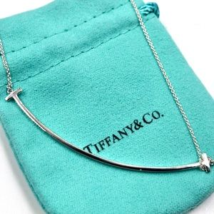 Tiffany & Co. Silver Large Smile Necklace